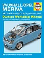 Haynes 4893 Workshop Manual Vauxhall Opel Meriva 03 to 10